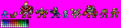 Mega Man: Fully Charged - Characters NES STYLE by hansungkee
