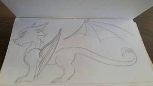Cute Lil Dragon by cometgazer379