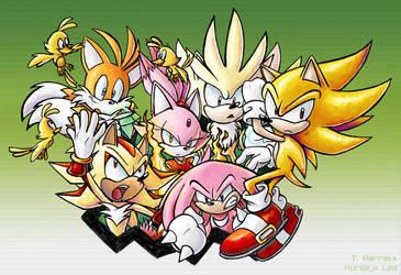 Collab - Super Sonic Warriors by kureejiilea