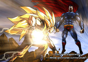 Goku Vs Superman by mikemaluk by Dalarminus
