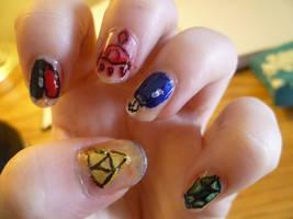 Zelda nails... again by bookwormy606