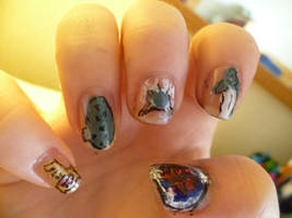 Zelda nails.. again by bookwormy606