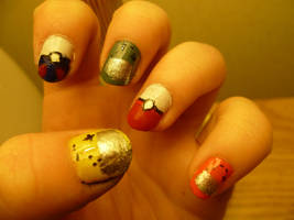 Gamer Nails by bookwormy606