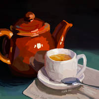 Day 2 - Teapot Still Life by bookwormy606