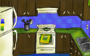 Day 16 - Funky Kitchen by bookwormy606