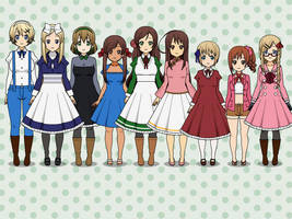 Hetalia Girls by MakaAlbarn012
