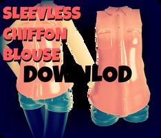 MMD RxNxD SleeveLess Chiffon Blouse DOWNLOAD by RinXNeruXD