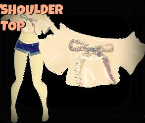 MMD RxNxD Shoulder Top by RinXNeruXD