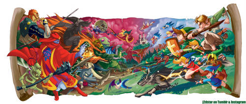 Zelda 25th Anniversary Tribute by J2Dstar
