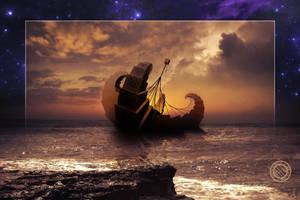 Steampunk Fractal - A Ship for All Destinations by jayaprime