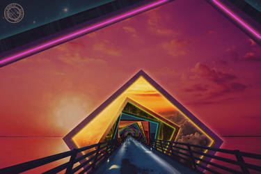 The Rainbow Bridge of a Thousand Fractal Colors by jayaprime