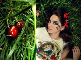 Addicted to cherries. by HappyYeyeGirl