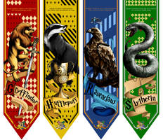 Hogwarts House Banners by RatatoskAS