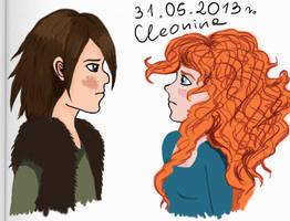 Merida i Czkawka by cleonina