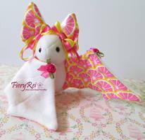 Pink Lemonade Bat Plush by FieryRei