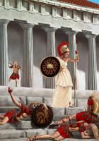 Athena Parthenos Vs Amazons by tartleigh