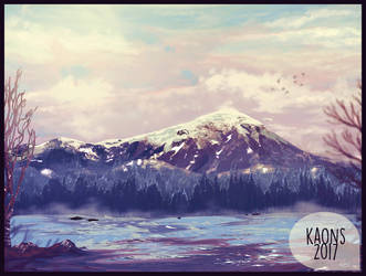 Snowy Background by kaons