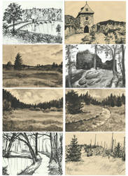 Sketches for printmaking by Grees19