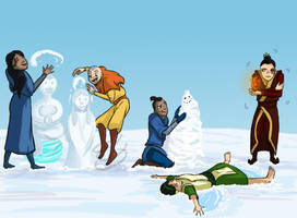 Snow Bending by 10flyingunicorns