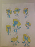 Smurfette in the movie version by Prince5s