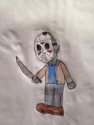 Halloween drawings: Jason Voorhees by Prince5s