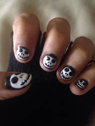 Jack Skellington nails  by Prince5s