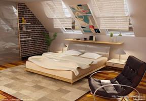 3DS Max: Interior Bedroom by ryan-mahendra