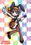 Haruhi Suzumiya Rockin Rabbit by kurokumo