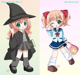 Majoko and Seifuku by kurokumo