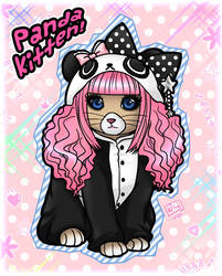Panda Kitten by kurokumo