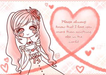 Please always know that I... by kurokumo