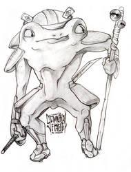 JAM - Emms' Samurai Frog by MVRH