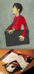 Red Guy With Portfolio by MVRH