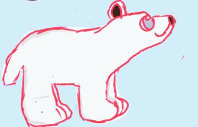 Polar Bear by NoCakeLeftBehind