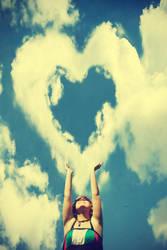 Heart shaped sky by korny-pnk