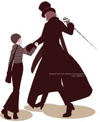 Charlie and Mr. Wonka by pippipippitama