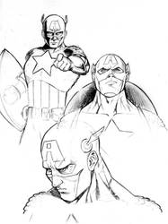 Croquis Captain America by Spidertof