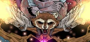 Rocket Raccoon by Spidertof