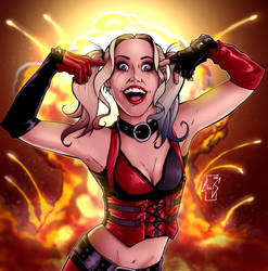 Harley Quinn - An Explosive Madness by Spidertof