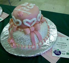 25th aniversary cake by ClosetPoet111390