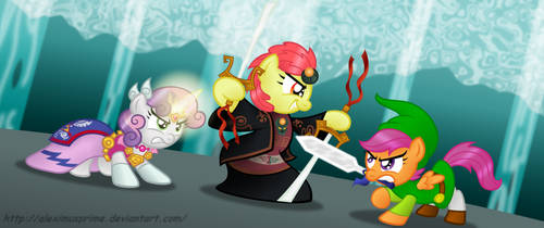 Commission:  CMC TRIFORCE BEARERS! by AleximusPrime