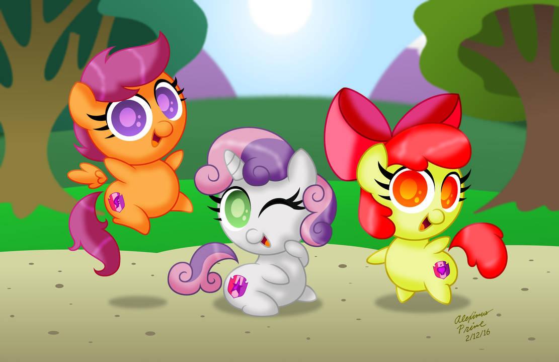 chibi_ponies___cutie_mark_crusaders_by_a