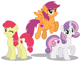 The Cutie Mark Crusaders 10 years later by AleximusPrime