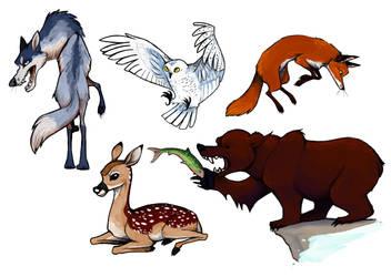 Animals 01 by Jane-Pr
