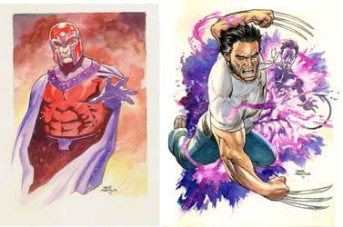 Magneto and Logan by thepunisherone