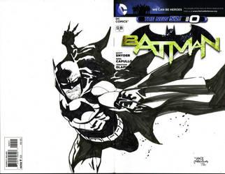 Batman black and white by thepunisherone