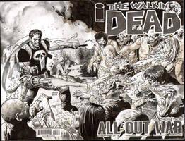 Castle vs the Walking Dead by thepunisherone
