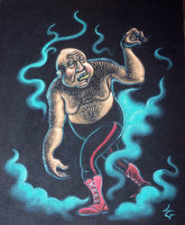 George the Animal Steele by sweetlygrotesque