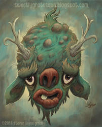 Beast Face Boy by sweetlygrotesque
