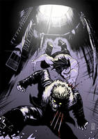 Wolverine vs Sabretooth -color by Botonet